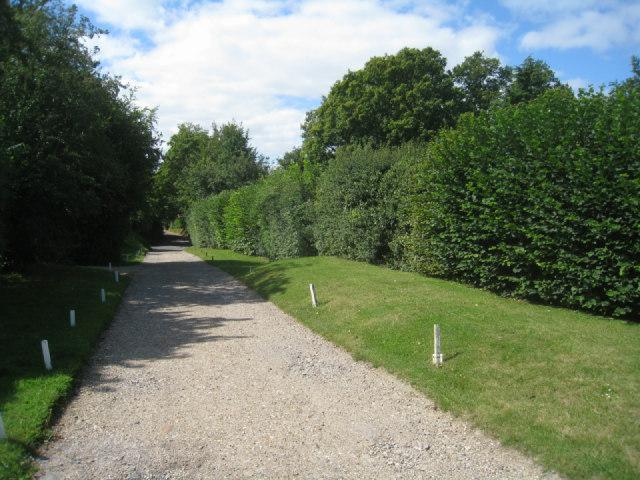 Track to recreation ground