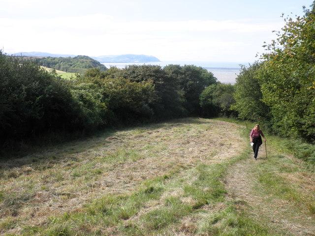 West Somerset coast path, near Watchet