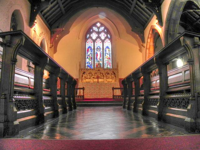 Altar and East Window, St Nicholas' Church