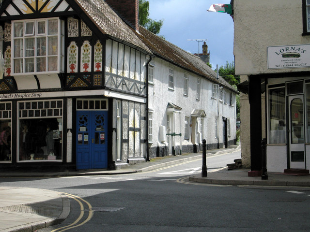 Shops and houses in Presteigne