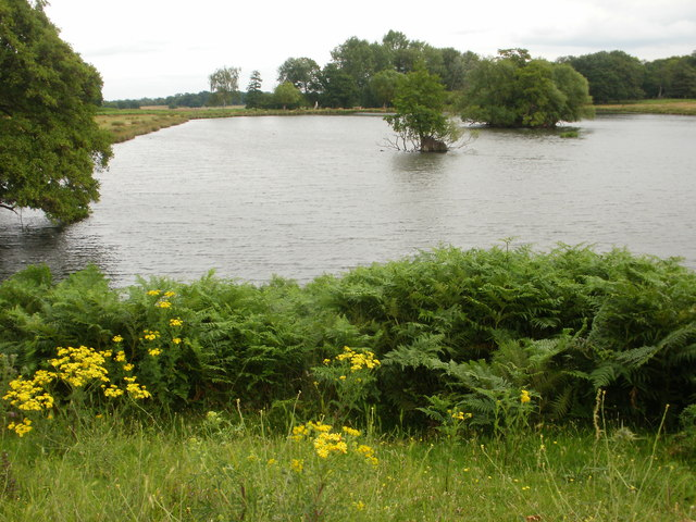 A view from the dam - the lower of the two Pen Ponds