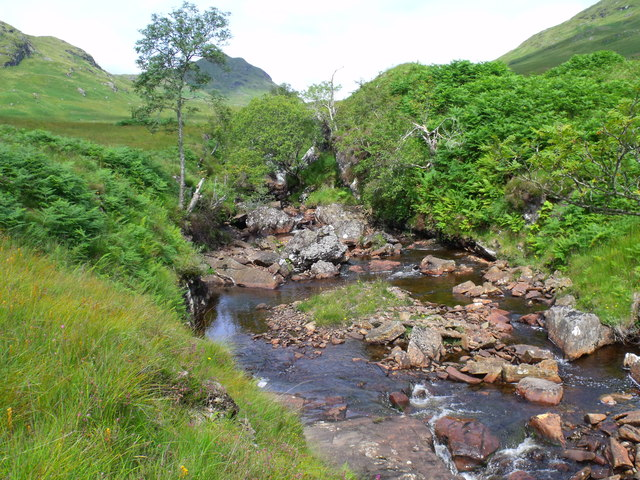 Wee gorge in the course of Strone Burn near Loch Katrine
