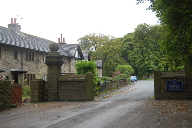 Entrance to Meltham Golf Club