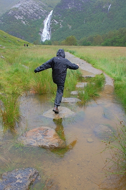 Stepping Stones, Steall Meadows