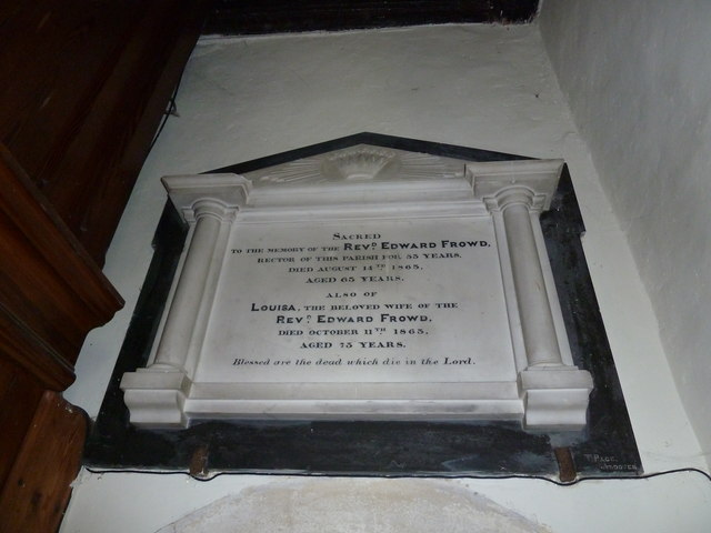 All Saints, Upper Clatford: wall memorial