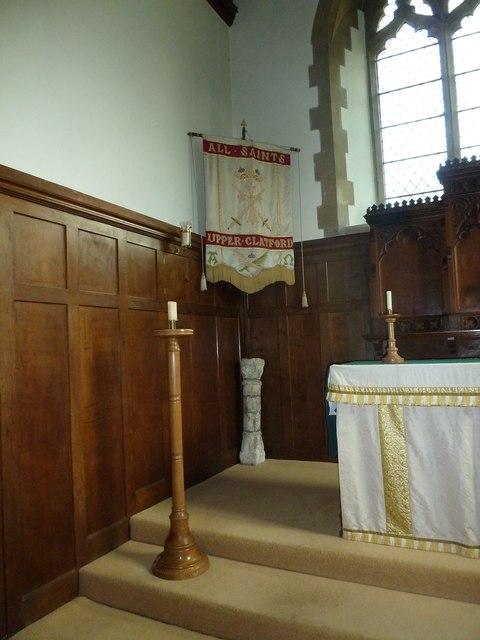 All Saints, Upper Clatford: ancient artefact