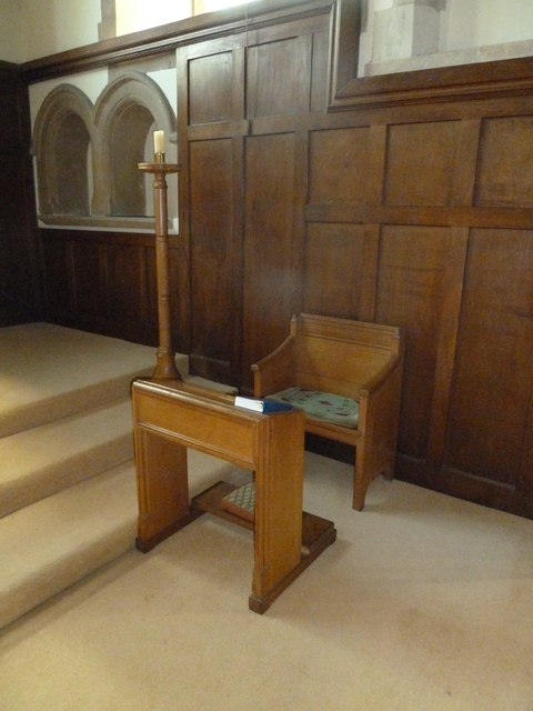 All Saints, Upper Clatford: prayer desk