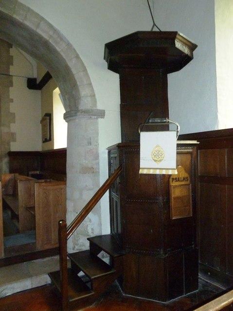 All Saints, Upper Clatford: pulpit