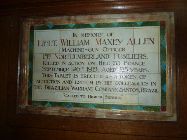 All Saints, Upper Clatford: two soldier brothers (a)