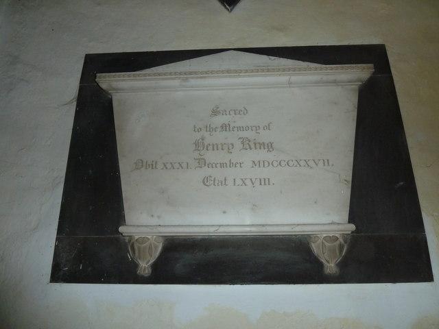 St Nicholas, Leckford: memorial (1)