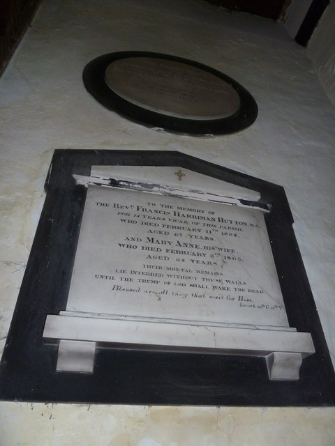 St Nicholas, Leckford: memorial (2)
