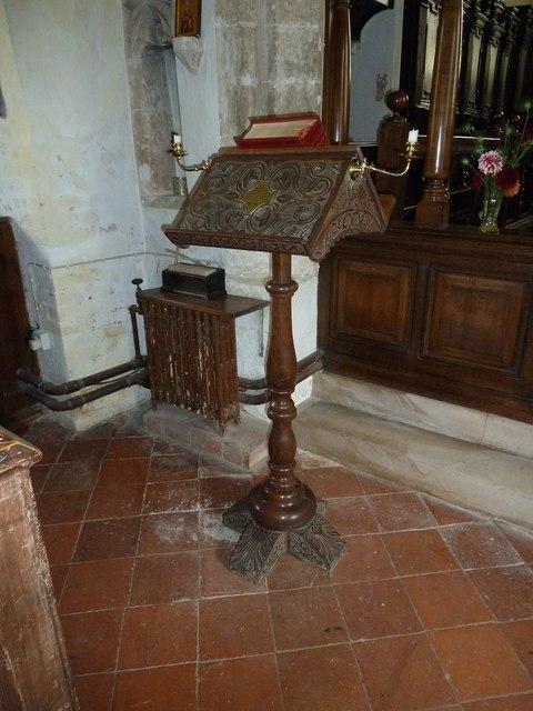 St Nicholas, Leckford: lectern