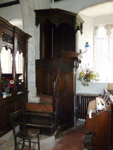 St Nicholas, Leckford: pulpit (side on)