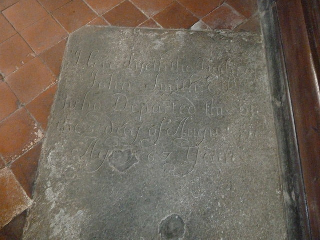 St Nicholas, Leckford: ancient floor memorial