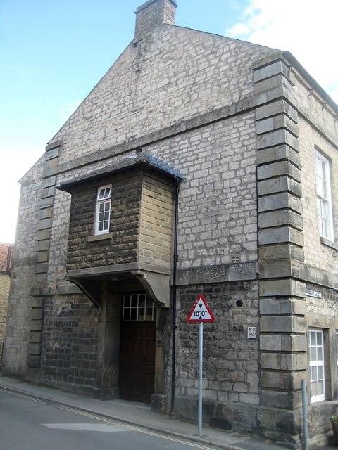 Memorial Hall, left gable wall