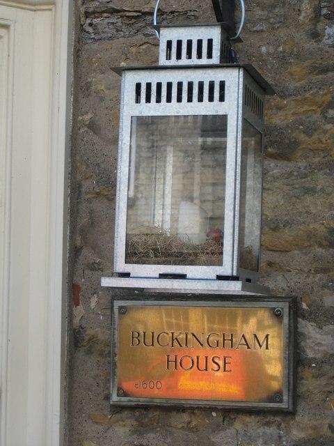 No 3, Buckingham House nameplate
