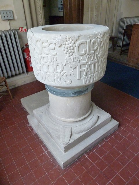 Saint Andrew, Hurstbourne Priors: font