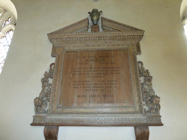 Saint Andrew, Hurstbourne Priors: memorial (2)