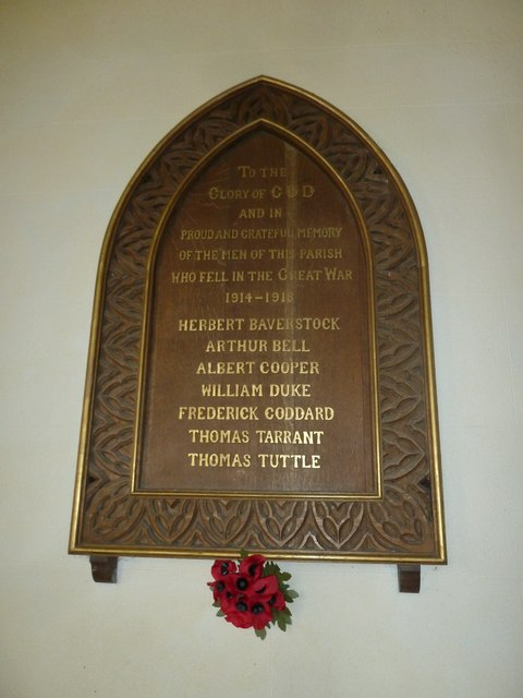 Saint Andrew, Hurstbourne Priors: war memorial