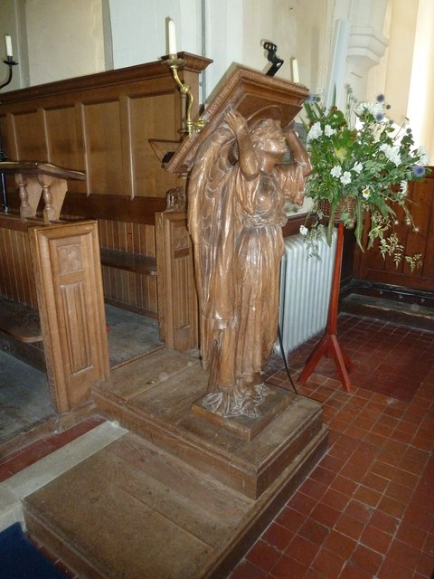 Saint Andrew, Hurstbourne Priors: lectern (from the front)