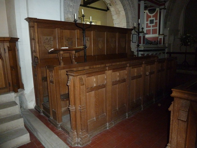 Saint Andrew, Hurstbourne Priors: choir stalls
