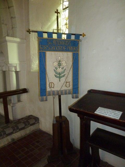 Saint Andrew, Hurstbourne Priors: banner