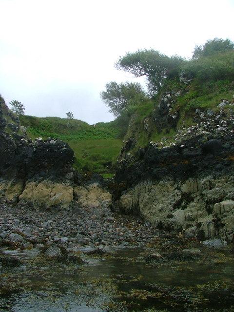 Shoreline below Aonadh Beag