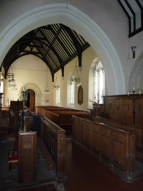 Saint Andrew, Hurstbourne Priors: looking from the chancel into the nave