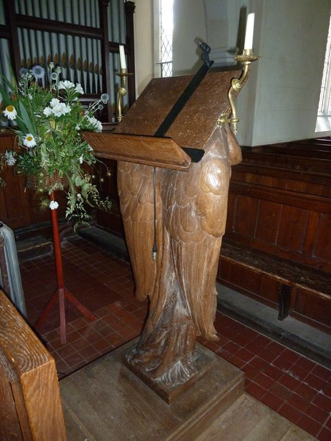 Saint Andrew, Hurstbourne Priors: lectern (from the rear)
