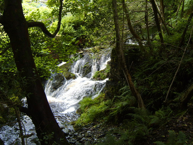 A mountain stream, Laxey