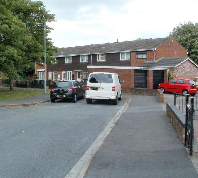 Far end of Churchward Drive, Newport