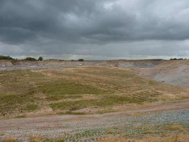 Bayston Hill quarry - partly restored land