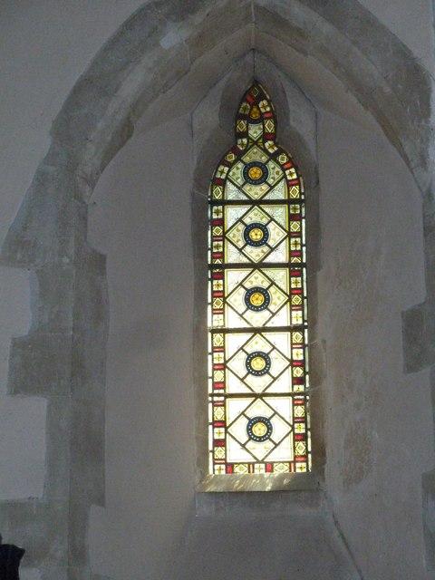 Monxton - St Mary: church window (b)