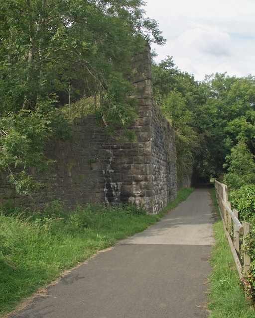 Old railway abutments by the Ogmore Valley Community Route