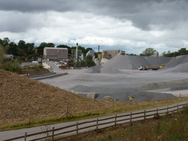 Stone processing plant at Bayston Hill quarry