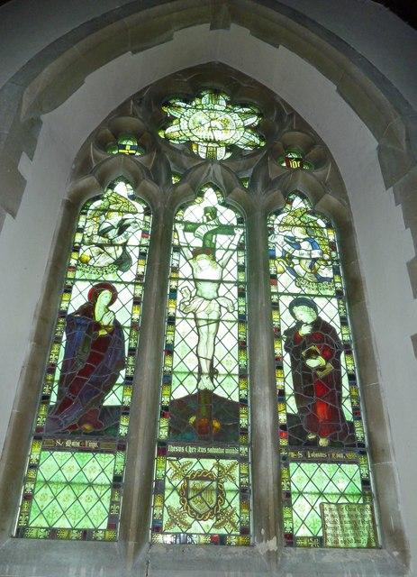 Monxton - St Mary: church window (e)
