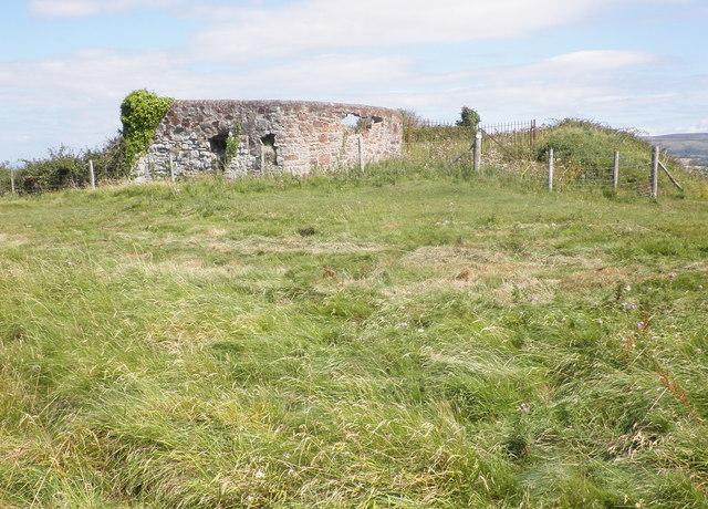 Ruined limekilns, near Daw's Castle, Watchet
