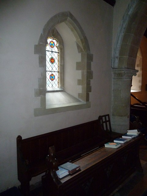 Monxton - St Mary: church window (g)