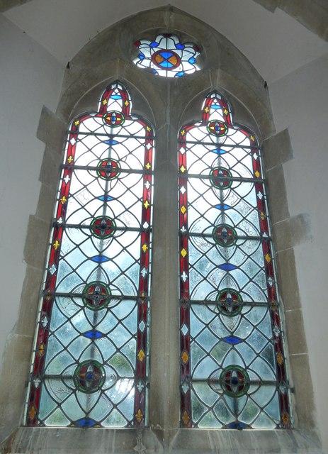 Monxton - St Mary: church window (h)