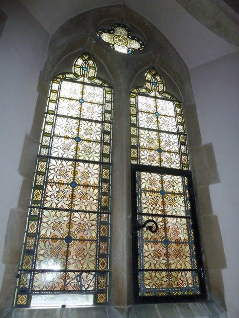 Monxton - St Mary: church window (i)