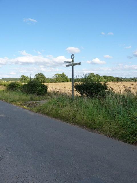 Milepost at Kingslow