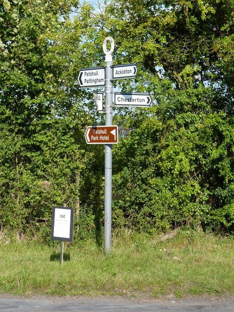 Milepost at Stanlow