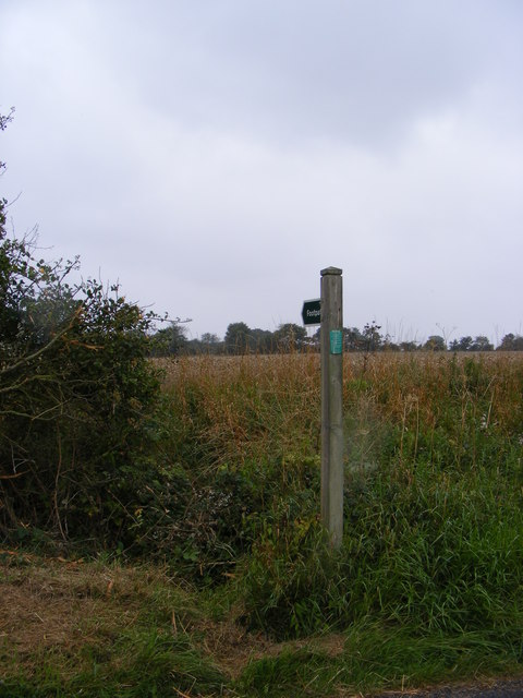 Footpath to Helmingham Church and the  B1077