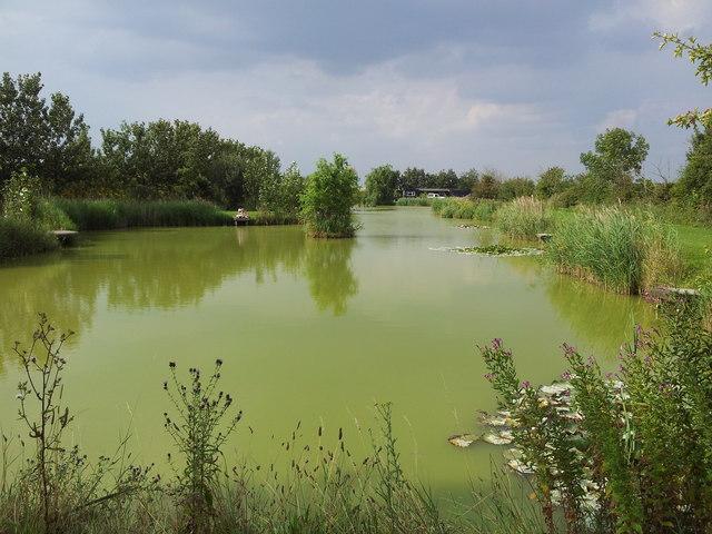 Fishing lake at Stonham Barns