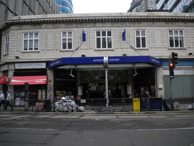 Aldgate Underground Station, Aldgate High Street EC3