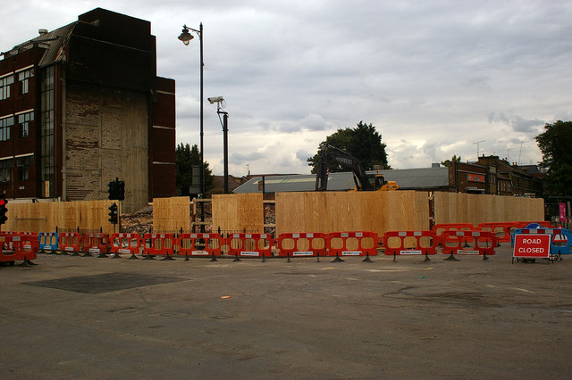 Site of demolished building, Tottenham