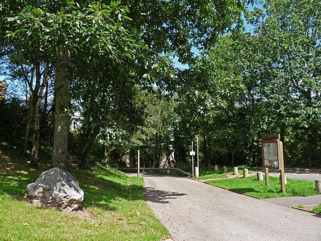 The entrance to Parc Cefn Onn Country Park