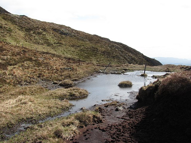 A boggy col