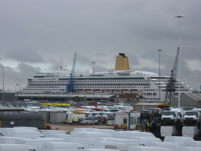 Aurora in Southampton Docks