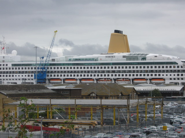 Aurora in Southampton Docks